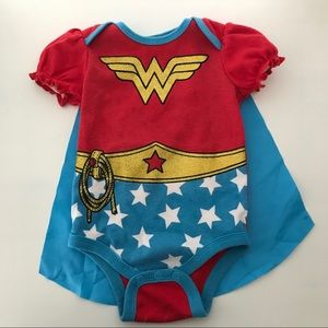 Other - Wonder Woman onesie with Velcro cape